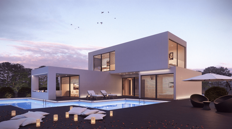 Modern Style White House with Pool