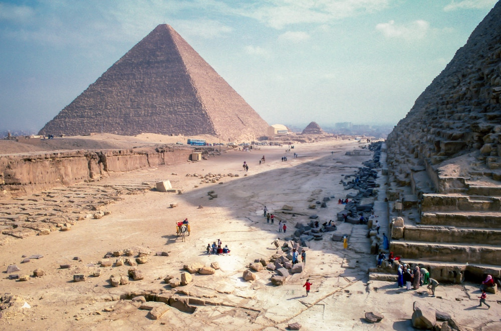 the pyramids in the desert
