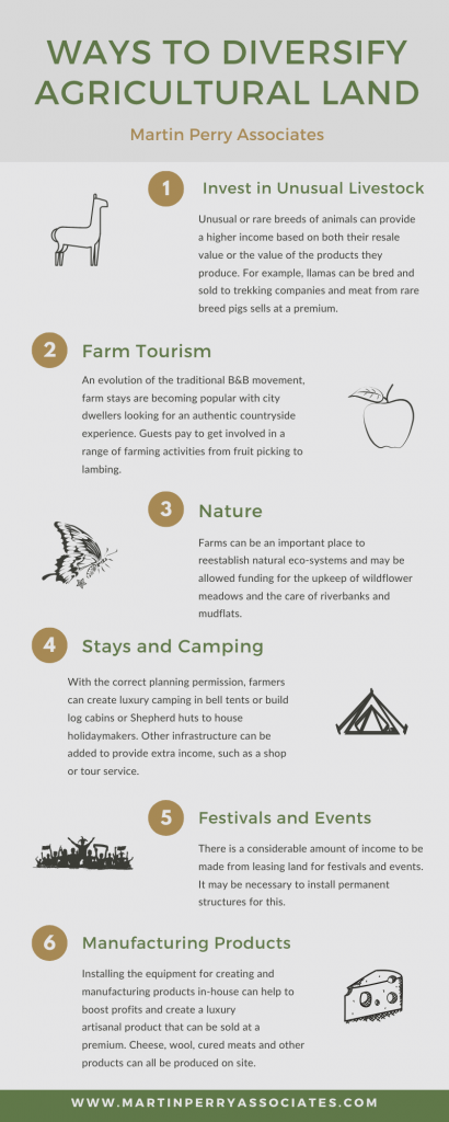 infographic - ways to diversify agricultural land