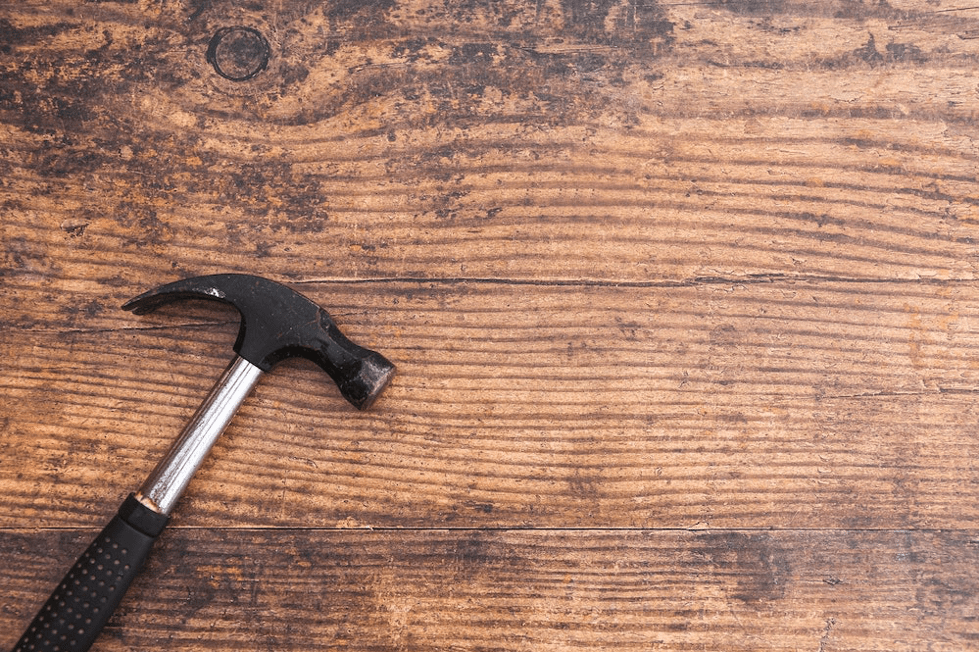 A hammer on some wood