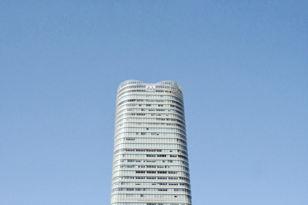 The Mori Tower against blue sky