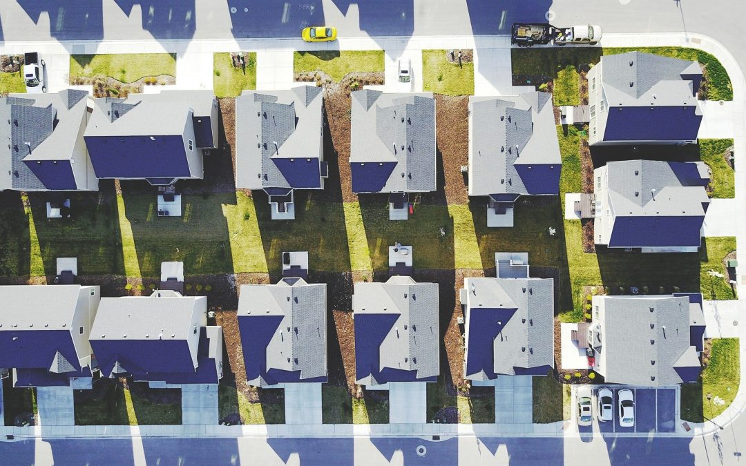 Suburban homes from above