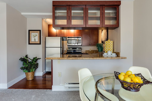 A kitchen in an apartment